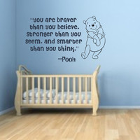 You Are Braver Than You Think Winnie The Pooh Vinyl Wall Decal
