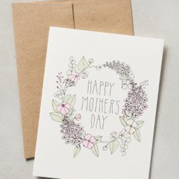 Mother's Day Garland Card by Hartland Brooklyn White One Size House & Home