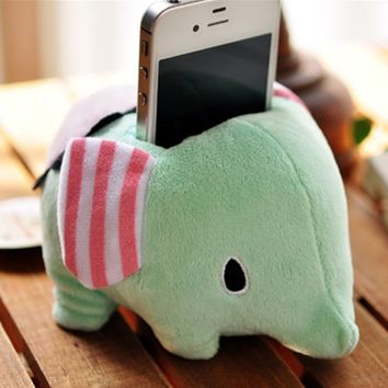 Cute Plush Elephant Phone Holder