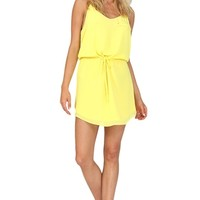 Yellow Cami Dress at Blush Boutique Miami - ShopBlush.com