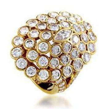 DCCKG2C Cartier Yellow Gold Diamond Cluster Ring