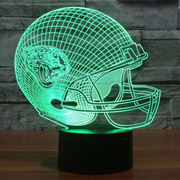 Football Helmet 3D LED Night Light Lamp