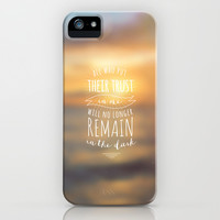 LIGHT AND NO DARKNESS iPhone & iPod Case by Pocket Fuel