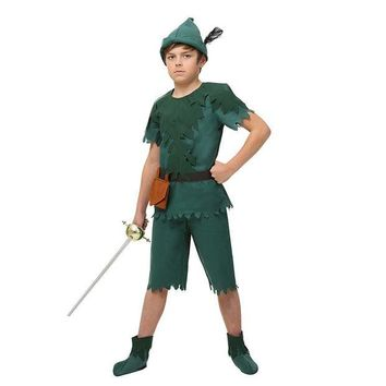 ONETOW Child Peter Pan Costume Jump Into A Life Of Adventure Neverland Forest Cosplay Clothing