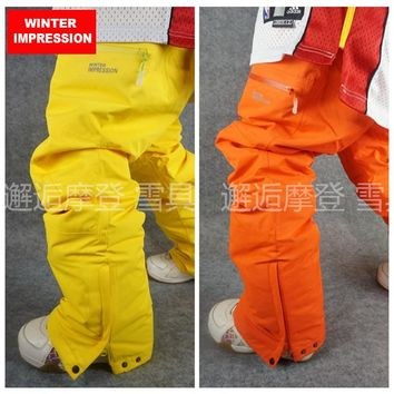 Winter Impression 2017 Waterproof Ski Pant for Men Women Plus Size Climbing Big Yards Trousers Outdoor Breathable Pant On Sale
