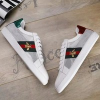 GUCCI 2018 new high-end wire mesh temptation fashion campus white shoes F-OMDP-GD