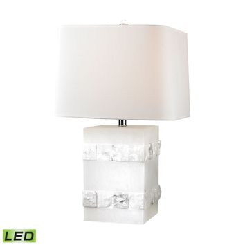 Mystery Cube LED Table Lamp Alabaster