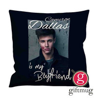 cameron dallas is my boyfriend Cushion Case / Pillow Case