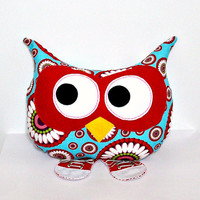 Stuffed Owl Plush Throw Pillow Animal Decorative Bed Owl Pillow Toy Turquoise Red Pink Lavender Red Sneakers