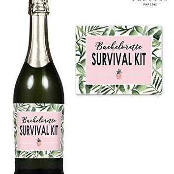 SURVIVAL KIT  Set of 8 Bachelorette Label Stickers for WineChampagne Bottles amp Gift Box  Bridesmaid Maid amp Matron of Honor Proposal Gift Engagement Party Bridal Shower