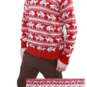 Reindeer Humping Ugly Christmas Sweater from Amazon | sweaters