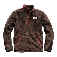 Men's Campshire Sherpa Fleece Pullover in Bracken Brown & Sequoia Red by The North Face