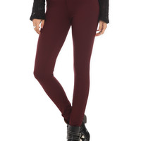 Cello Burgundy Super Skinny Jeans