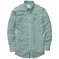 Goal Line Shirt in Forest Green Gingham by Southern Proper