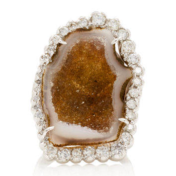 One-Of-A-Kind Grey Geode Ring | Moda Operandi