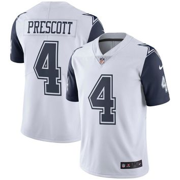 Men's Dallas Cowboys Dak Prescott Nike White Vapor Untouchable Color Rush Limited Jersey