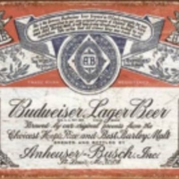 Budweiser Historic Label