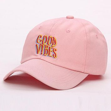Embroidered Good Vibes Cap