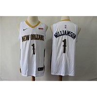 Men's New Orleans Pelicans Zion Williamson Nike White Swingman Jersey - Association Edition - Best Deal Online