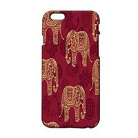 Elephant Indian Pattern Plastic Phone Case for Iphone 6 plus