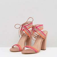 Call It Spring Astoressi Brown Block Heeled Sandals at asos.com