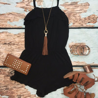 Call Me Maybe Romper: Black
