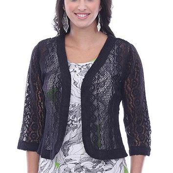 Bina Crochet Lace Shrug