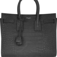 Saint Laurent - Sac De Jour small croc-embossed leather tote