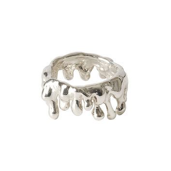 Drippings Silver Ring