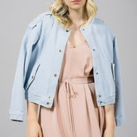 Neta Denim Bomber Jacket