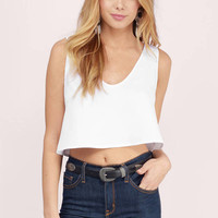 Float On Scooped Tank Top
