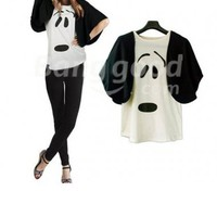 Fashion Women's Lovely Dog Batwing T-Shirts Tops Blouse Free Shipping!  - US$13.98