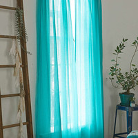Chloe Turquoise Gauze Curtain - Urban Outfitters