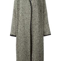 Dusan long herringbone coat