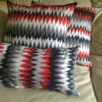 Two Good Vibrations Flame Throw Pillow (Free Shipping)