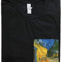 Cafe Terrace at Night Pocket Shirt (Vincent Van Gogh)