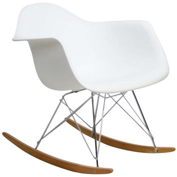 White Rocker Lounge Chair