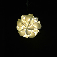 "Akari Small Rounds 12"", Warm White Glow, Modern Hanging Light Fixtures Plug in or Hardwire as Pendant Lamp, bulb included, Easy to install"