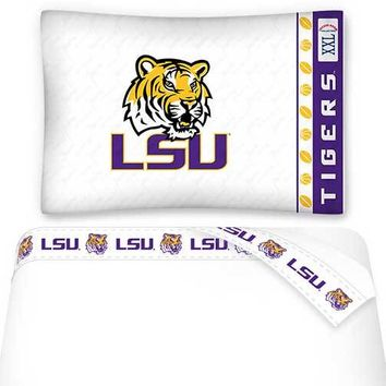 NCAA Louisiana State Tigers Bed Sheets Set College Bedding