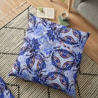 'Aisa pattern' Floor Pillow by Linandara