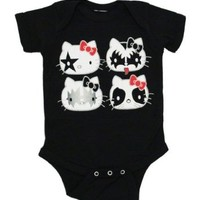 Hello Kitty KISS Baby Girl's Snapsuit, 12-18 Months