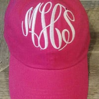Monogrammed Hat for women, Personalized Cap