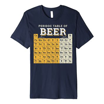 Periodic Table Of Beer Types Graphic Premium T-Shirt