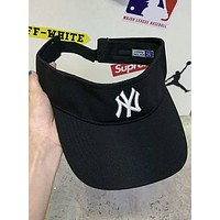 NY Summer Embroidered Sunscreen Sun Cap Empty Top Baseball Cap F-Great Me Store Black