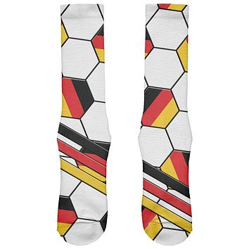 World Cup Germany Soccer Ball All Over Soft Socks