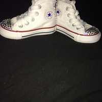 Swarovski crystal converse/chuck taylor shoes super cute handmade great gift for children and babies, great baby shower gift or wedding gift