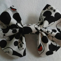 "Hey, Mickey You So Fine"" hair bow, perfect for all ages"