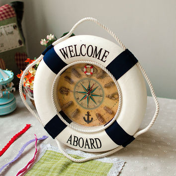 Mediterranean Sea Home Accessory Creative Clock [6282971654]