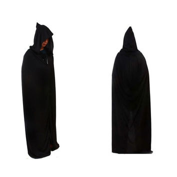 Halloween Death Devil Tippet Hoody Cloak Costume Cosplay Theater Prop Cap Black = 1932218308