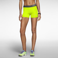 "Nike Pro Core 3"" Compression Women's Shorts - Volt"